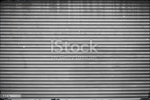 Old big roll-up gate