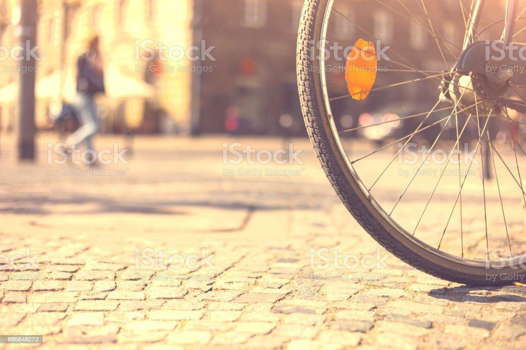 old bike on the street zbiór zdjęć royalty-free