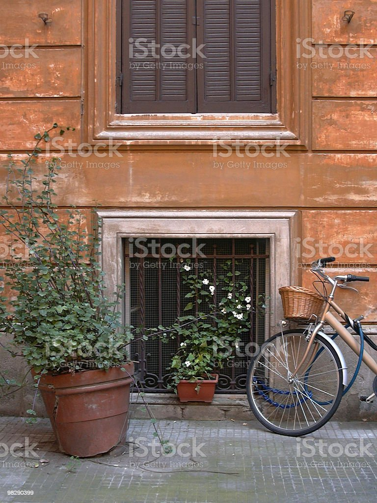 Old Bike with basket royalty-free stock photo