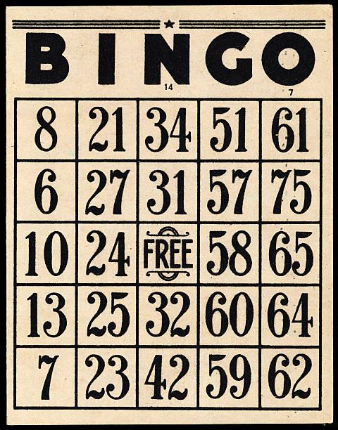 Old Bingo Card stock photo