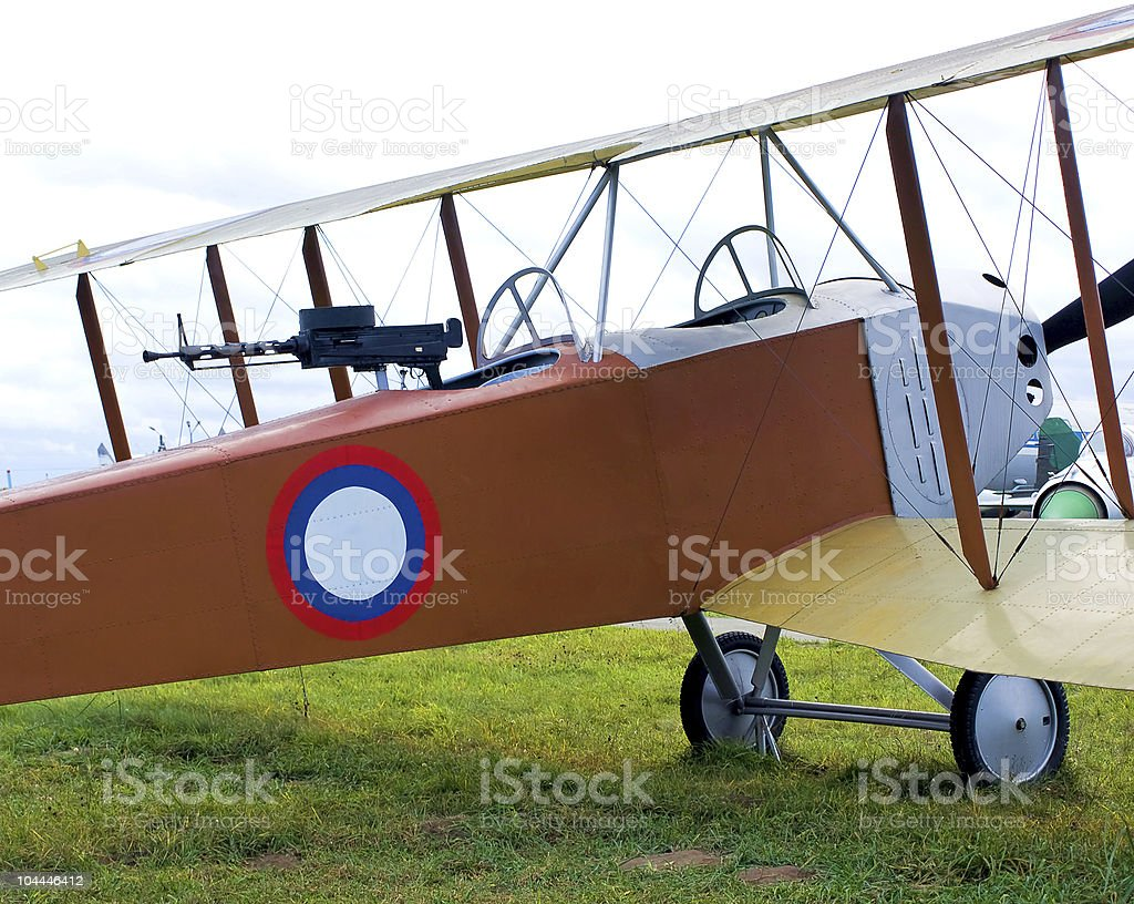 old biplane royalty-free stock photo