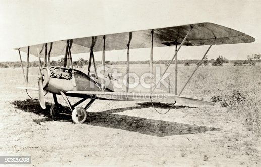 Vintage photo of an old bi-plane.