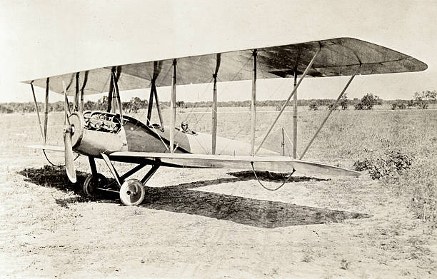 Old Bi-Plane stock photo