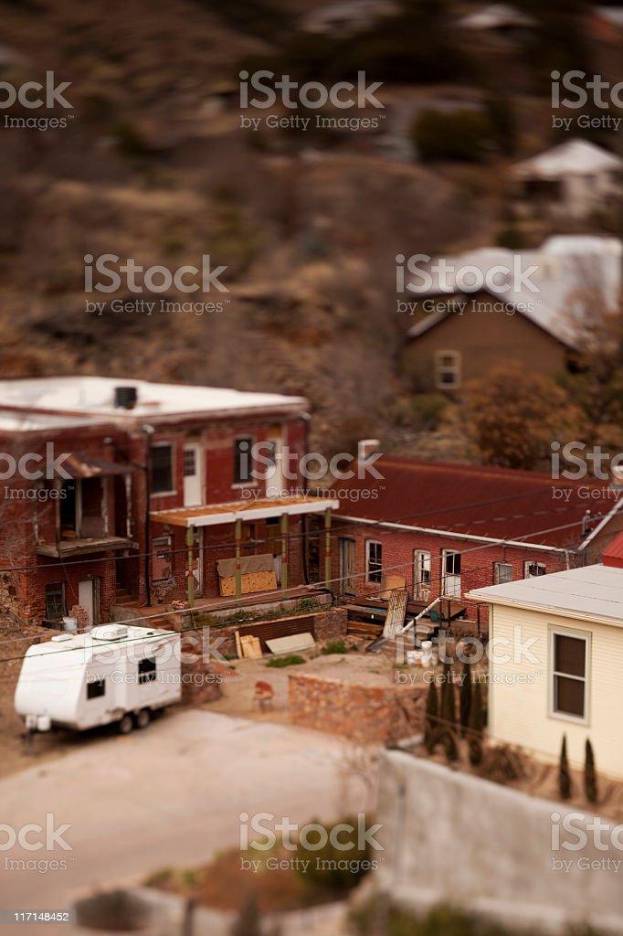 Old Bisbee city stock photo