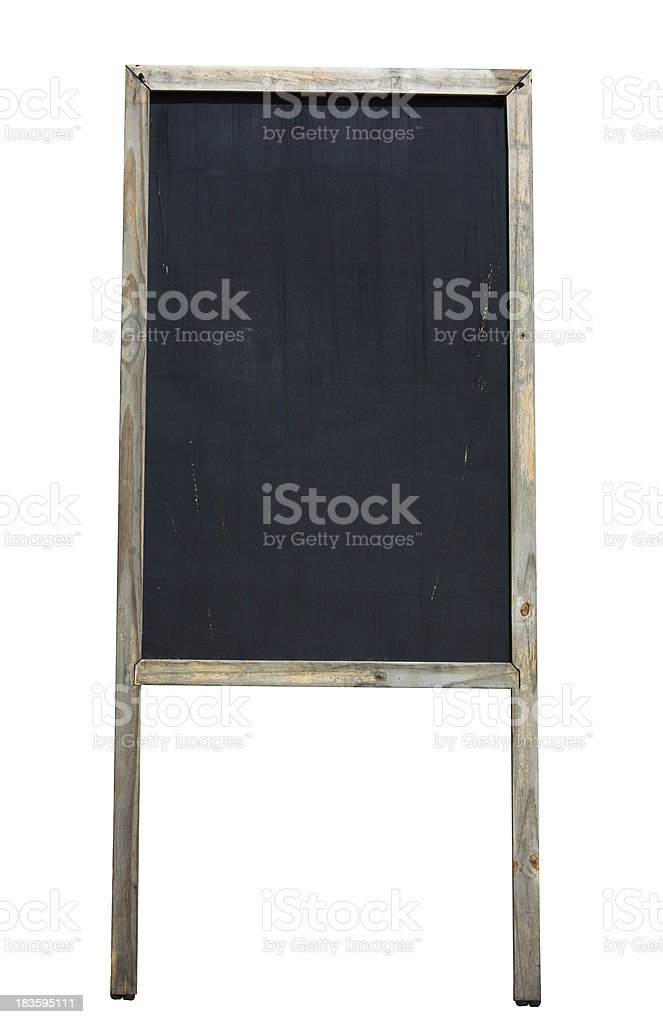 Old black board royalty-free stock photo
