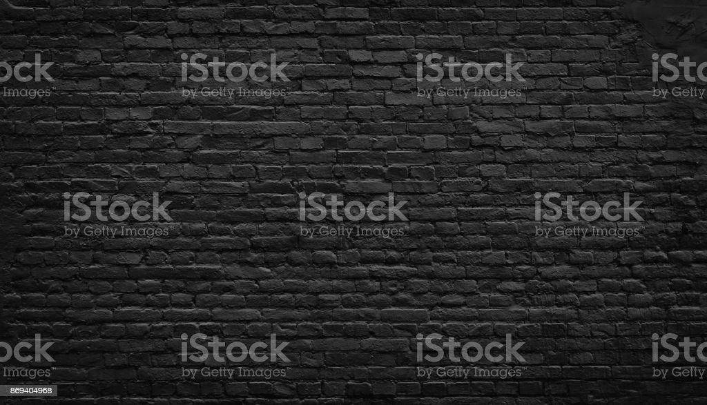 Eski siyah tuğla duvar arka plan. - Royalty-free Antika Stok görsel