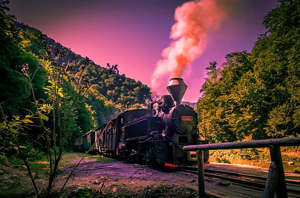 Old black Dampfbad powered railway train – Foto
