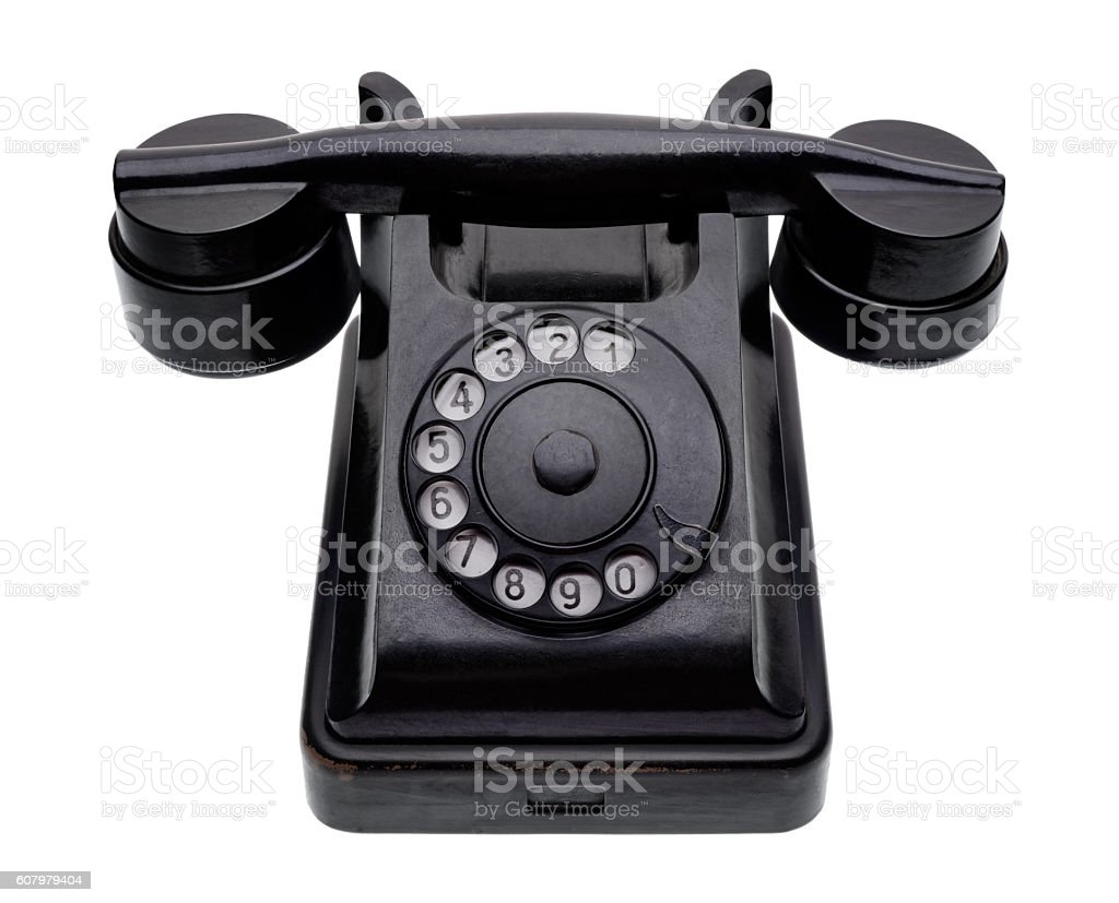 Old black telephone royalty-free stock photo