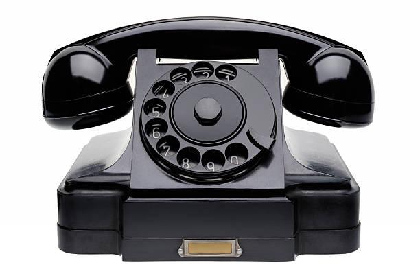 Old black telephone stock photo