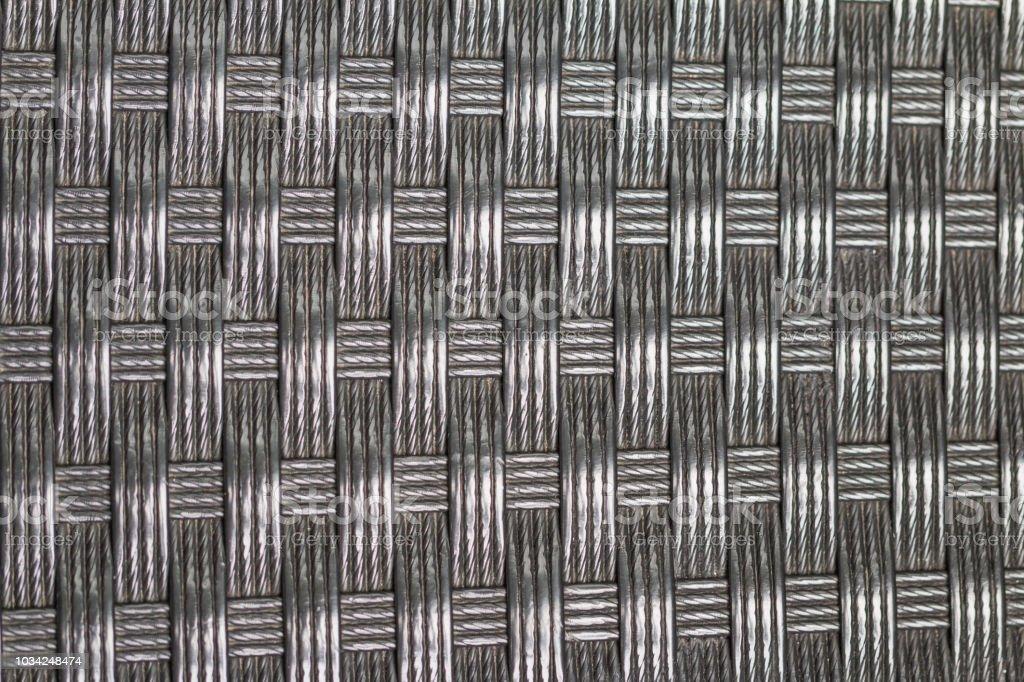 Velho negro vime / rattan / tecido textura artificial - foto de acervo
