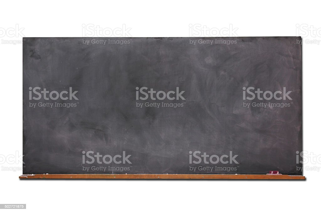 Old Blackboard Isolated On White stock photo