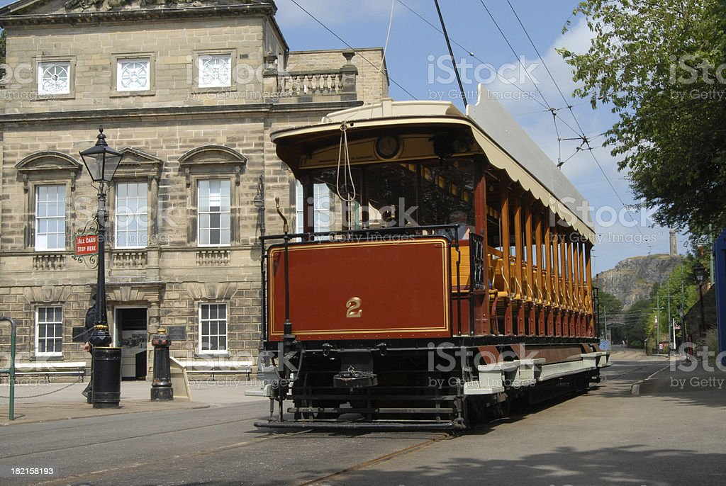 Old Blackpool and Fleetwood Tram stock photo