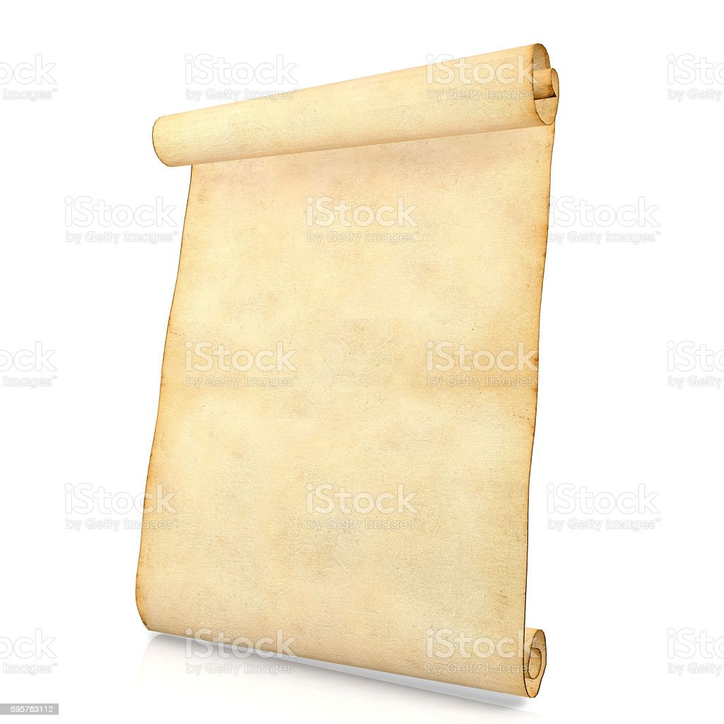 old blank antique scroll paper isolated on white background stock, Powerpoint templates