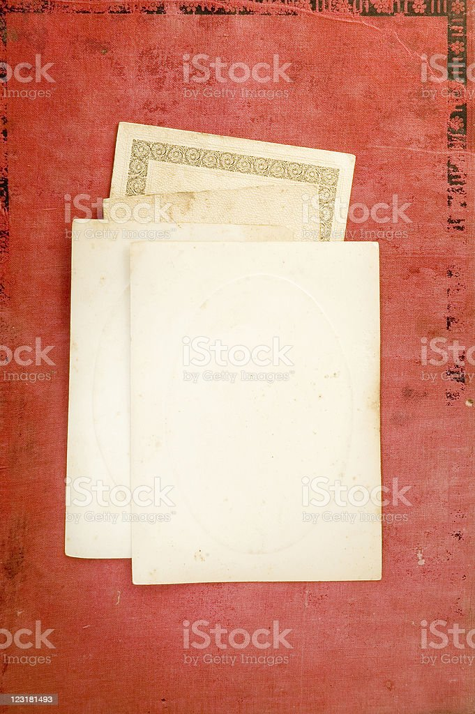 old blank cards royalty-free stock photo