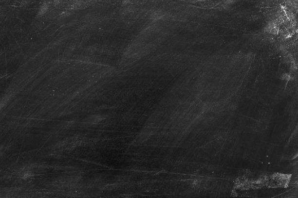 Old blank dirty chalkboard . stock photo