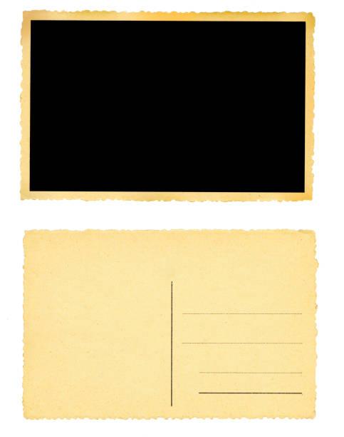 Alte leere grunge Postkarten oder Bilderrahmen, frei kopieren Raum – Foto