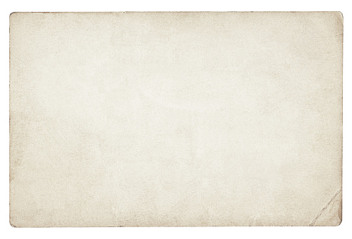 Old blank paper isolated (clipping path included)