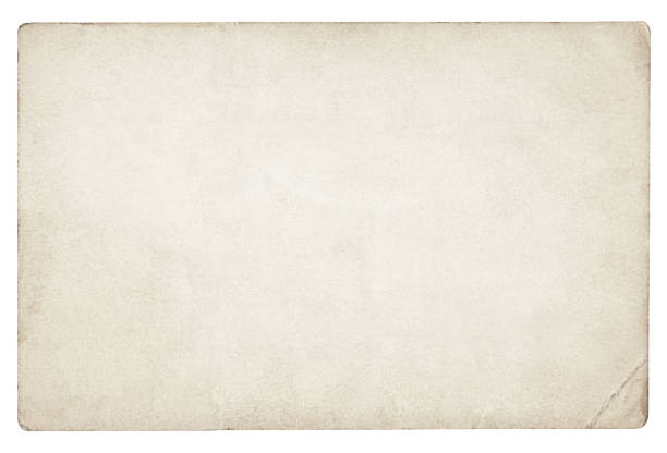 Old blank paper isolated stock photo