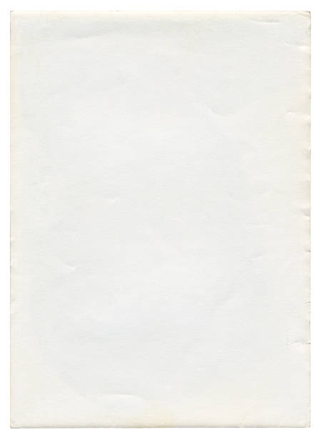 Old blank paper isolated (clipping path included) stock photo
