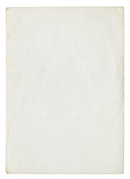 alte leere papier (isoliert clipping-pfad enthalten - klapprahmen stock-fotos und bilder
