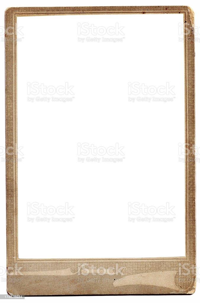 Old blank photo frame stock photo
