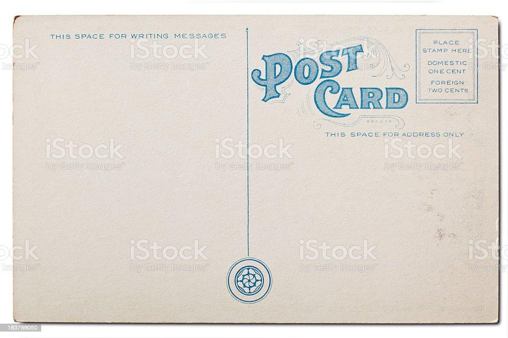Old, Blank Postcard. Isolated on White. XXXL stock photo