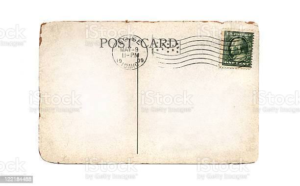 Old, Blank Postcard with Copy Space