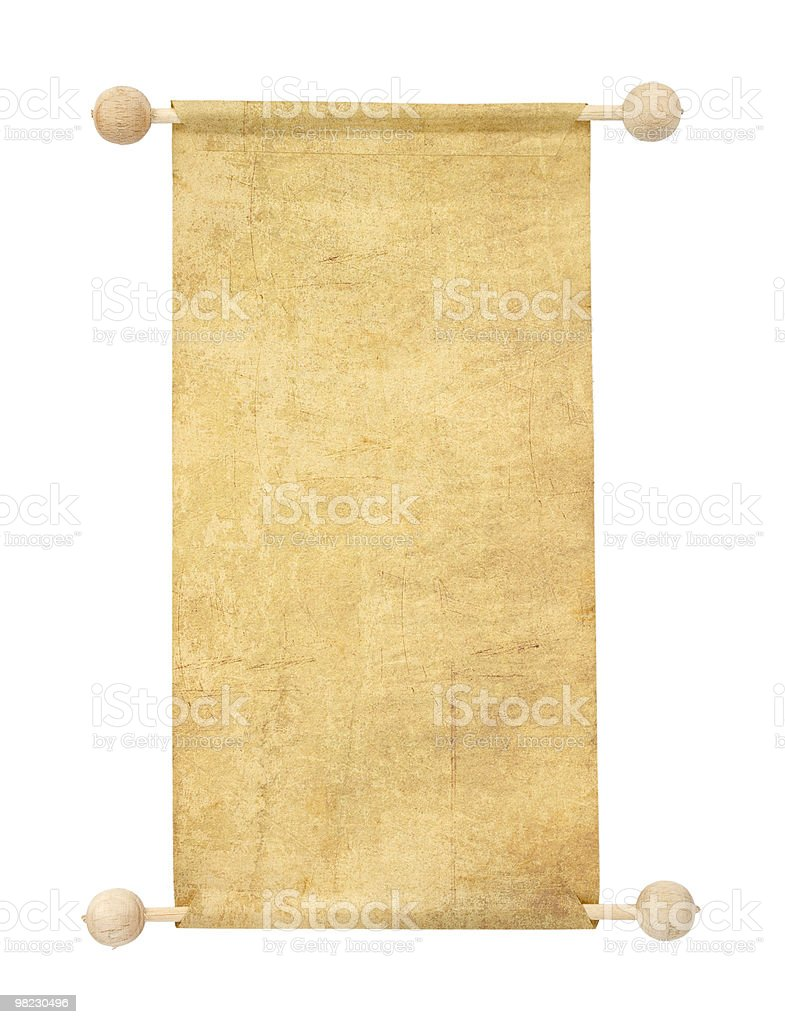 old blank scroll royalty-free stock photo