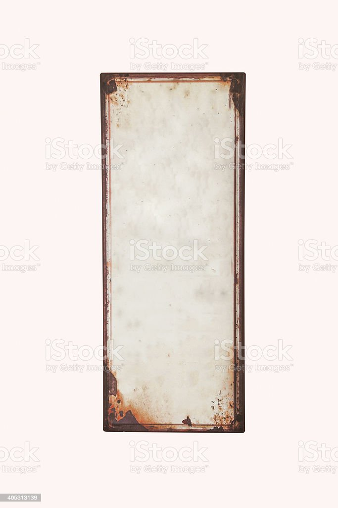 old blank sign stock photo