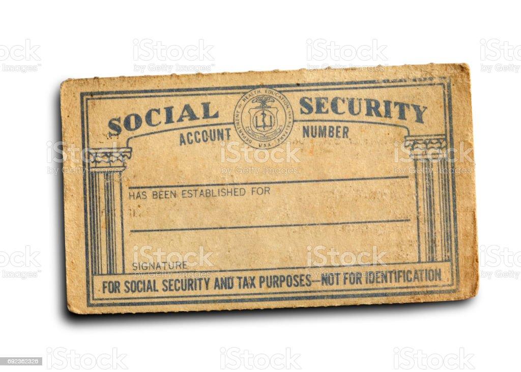 5f8efdfb81c Ancienne carte vierge sécurité sociale isolée On White Background photo  libre de droits