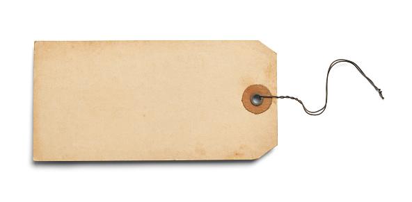Old Blank Tag