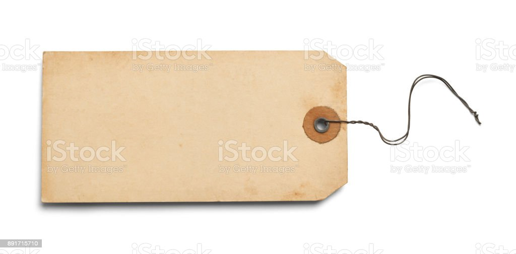 Old Blank Tag stock photo