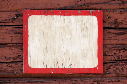 Old blank weathered sign