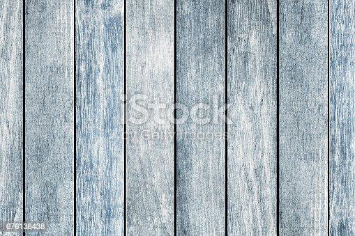 istock Old Blue Black Woodgrain Boards 676136438
