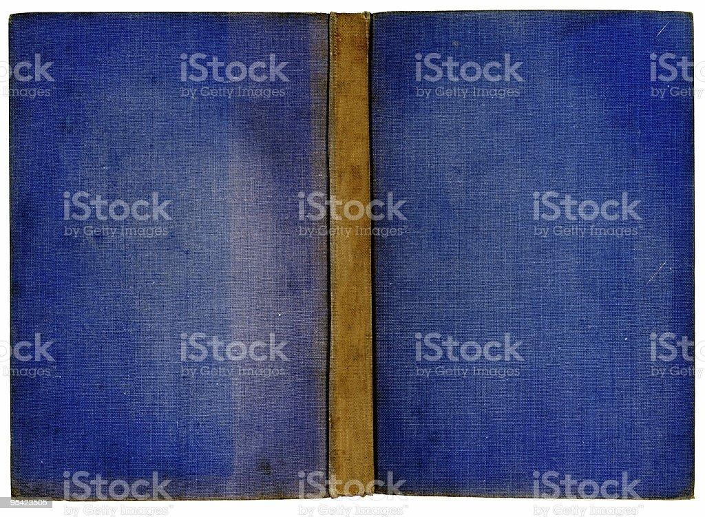 Old blue Buchen Sie sich öffnen, Flachbildfernseher Lizenzfreies stock-foto