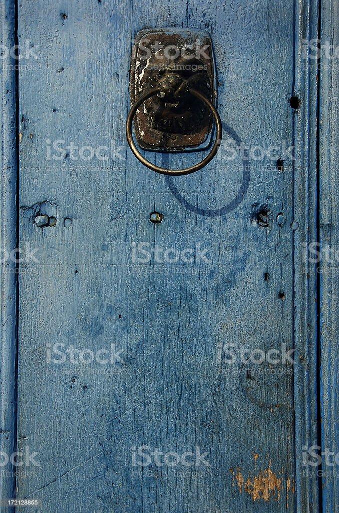 Old blue door royalty-free stock photo