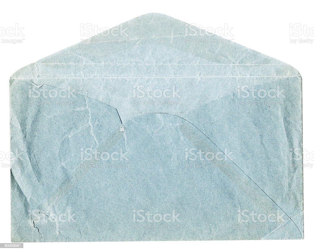 Old Blue Envelope royalty-free stock photo