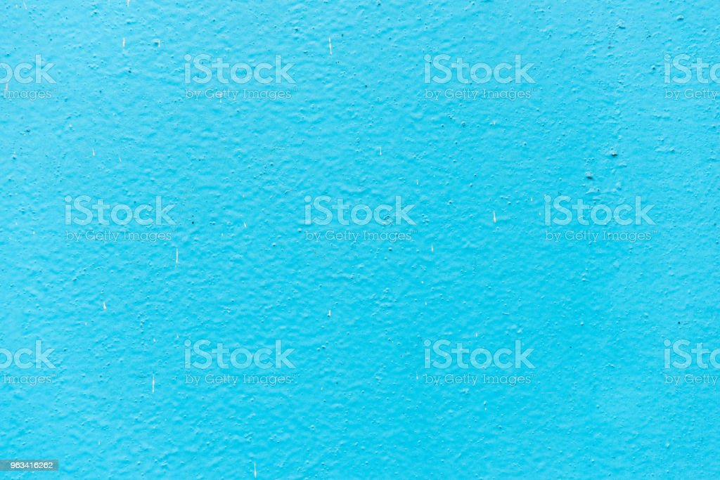 Old blue plaster on wall background - Zbiór zdjęć royalty-free (Architektura)