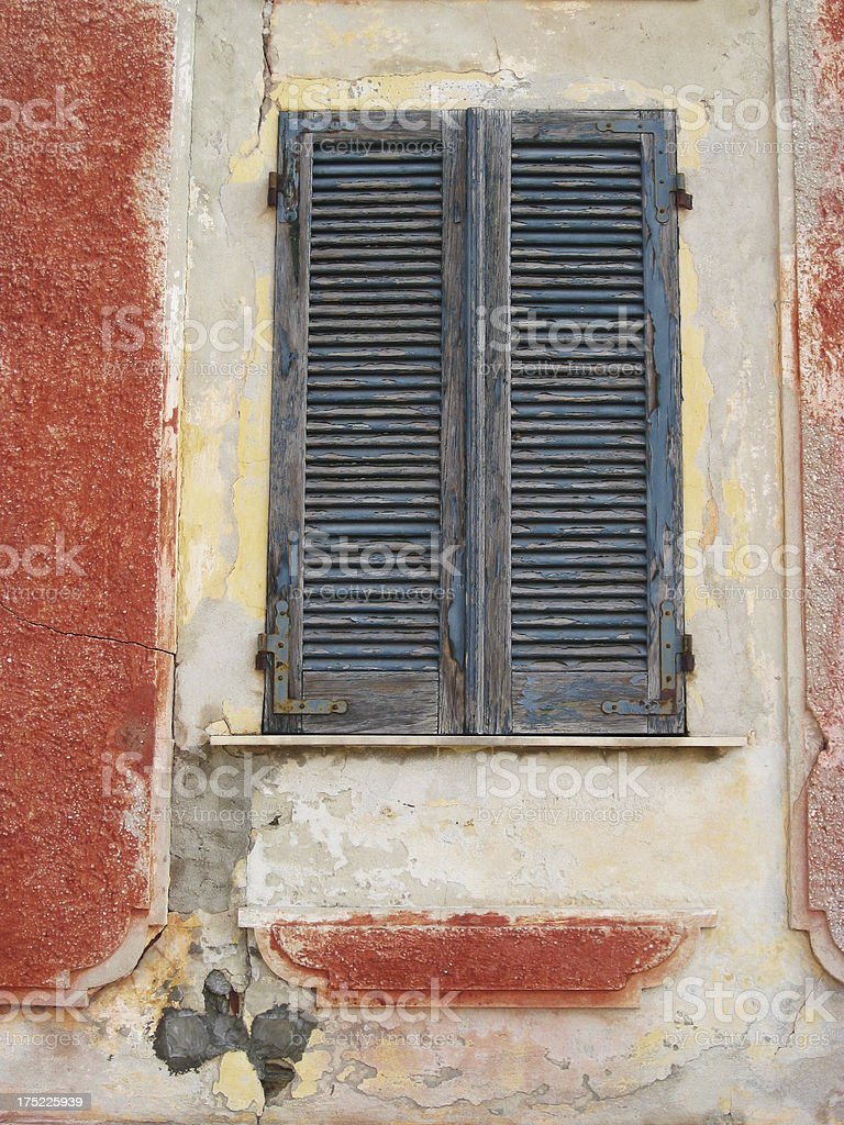 Old Blue Shutters royalty-free stock photo