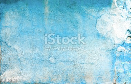 Old blue wall background.