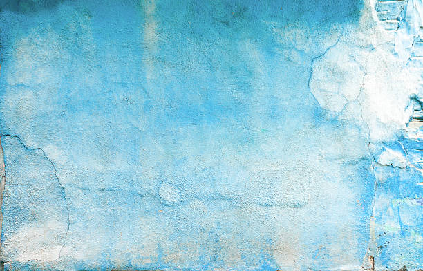 Old Blue Wall stock photo