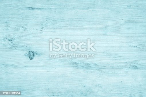 Old Blue Wood table texture for decoration background. Wooden wall all antique cracking furniture painted weathered vintage peeling wallpaper. Front view of vintage aged white color plywood stripe.