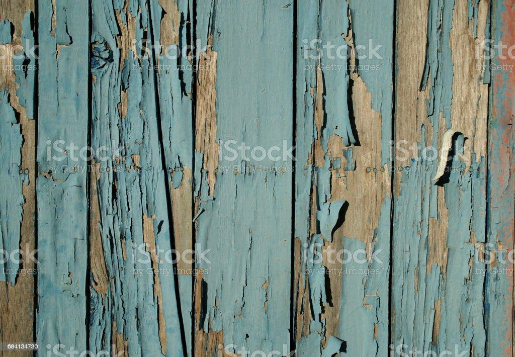 Oude blauwe houten achtergrond royalty free stockfoto