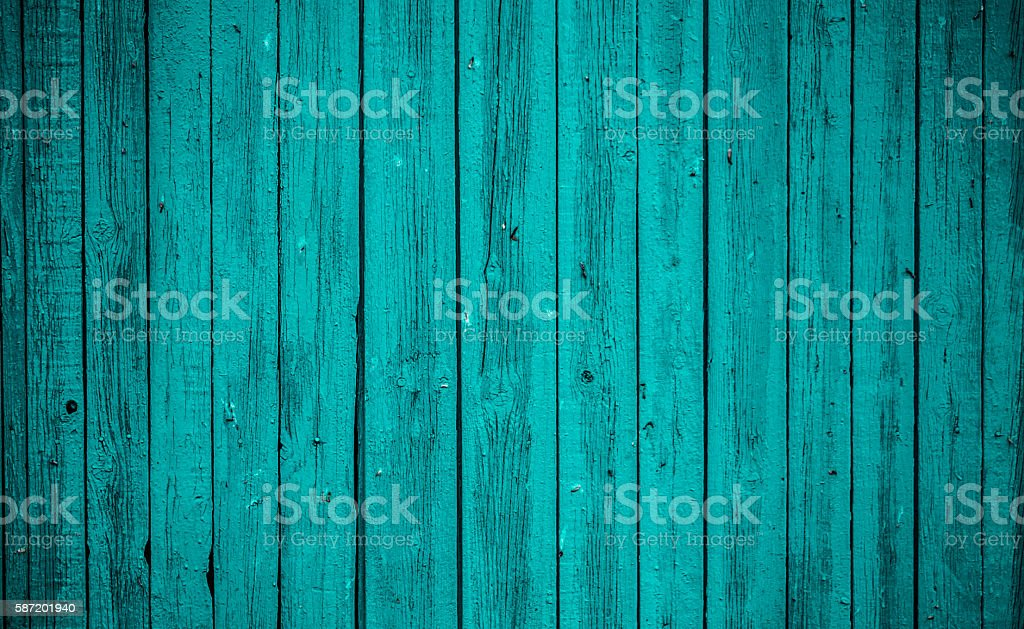 Old blue wooden Board. Beautiful background. - Photo