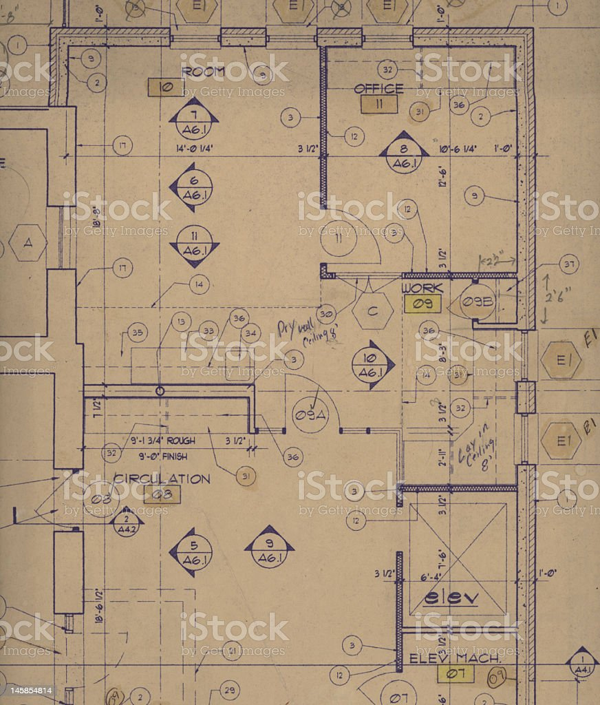 Old blueprint stock photo more pictures of antique istock old blueprint royalty free stock photo malvernweather Images