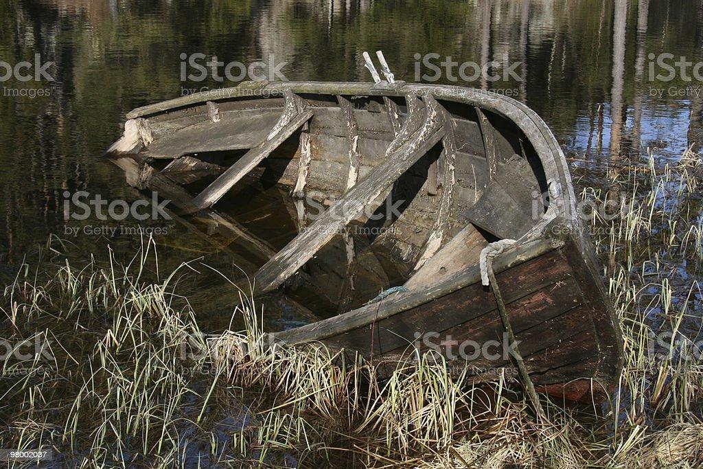 Old boat at the lake royalty free stockfoto