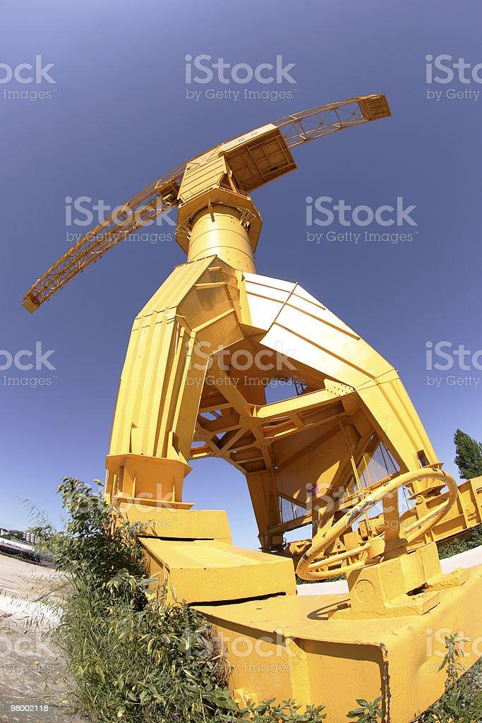 Old boat crane royalty-free stock photo