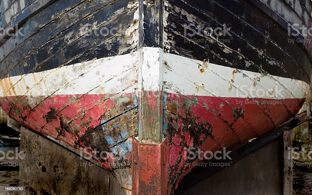 Old Boat in Dry Dock royalty-free stock photo