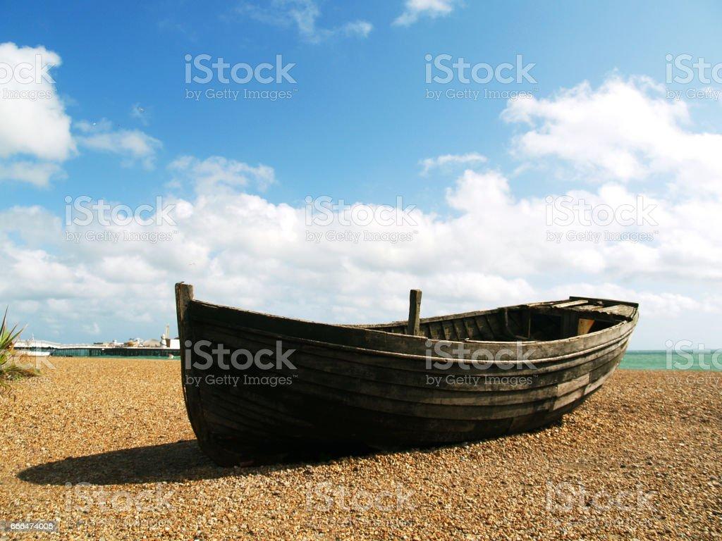Velho barco - foto de acervo