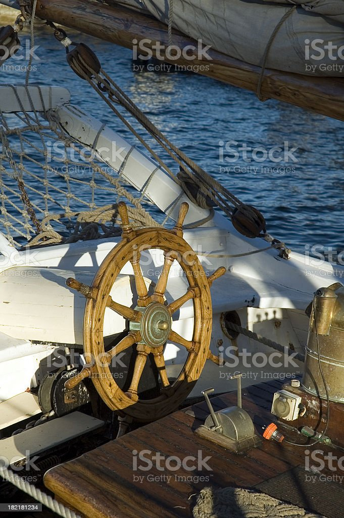 Old boat rudder royalty-free stock photo